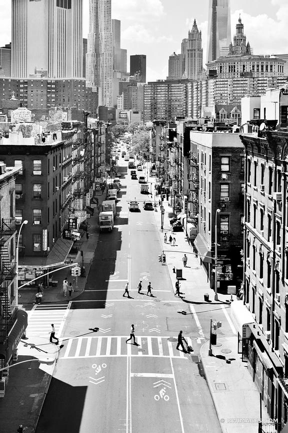 Photo print of chinatown new york city black and white for Large photographic prints for sale