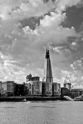 The Shard London black and white