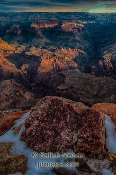 Grand Canyon Dawn in Winter