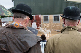 Quorn Huntsman Peter Collins watching the 2012 Cottesmore Hunt Puppy Show
