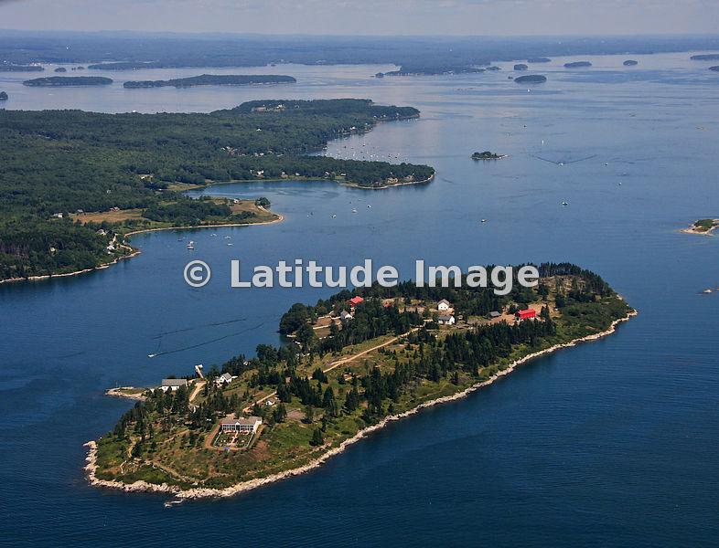 Latitude Image Hope Island Casco Bay Portland Aerial Photo