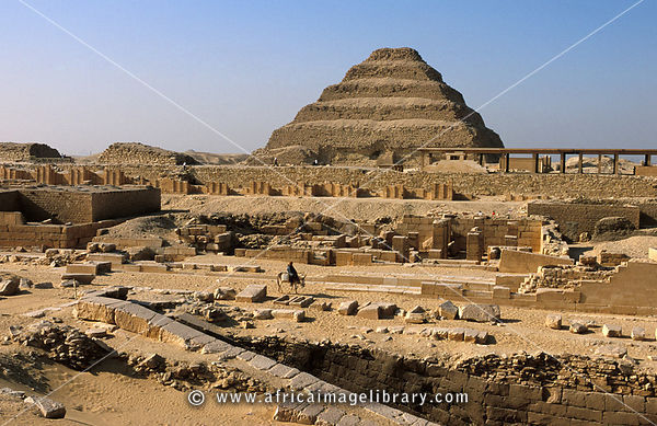 Photos and pictures of: Djoser's step pyramid dominates ...