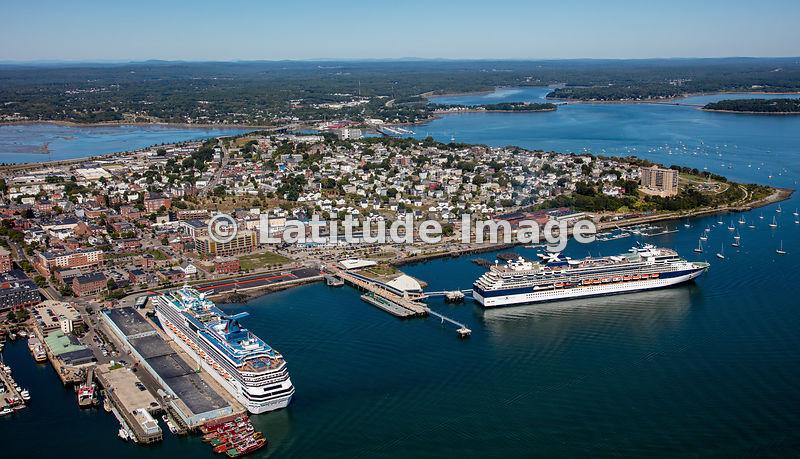 Latitude Image Cruise Ships In Portland Maine Aerial Photo