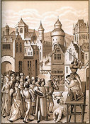 Decapitation of Guillaume de Pommiers and his Confessor