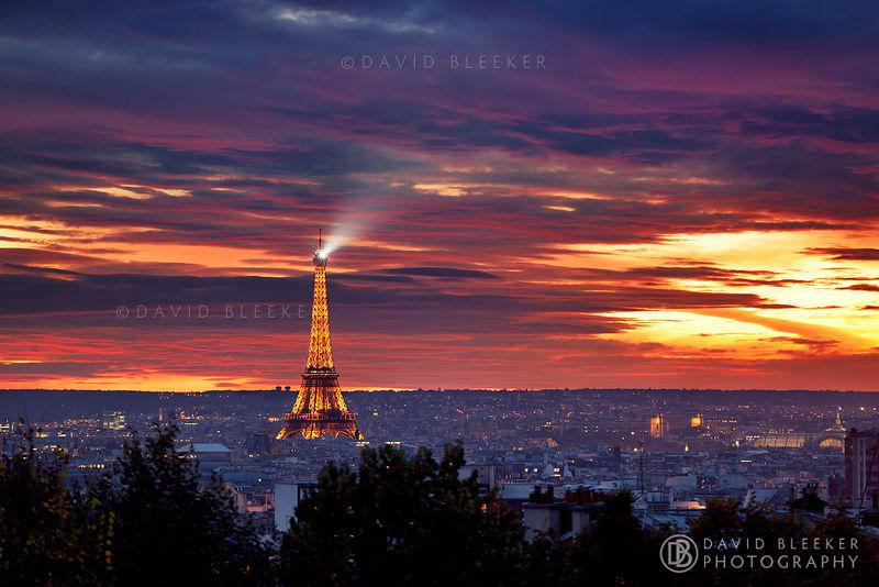 Quot Paris Skyline At Sunset Quot 169 David Bleeker Photography
