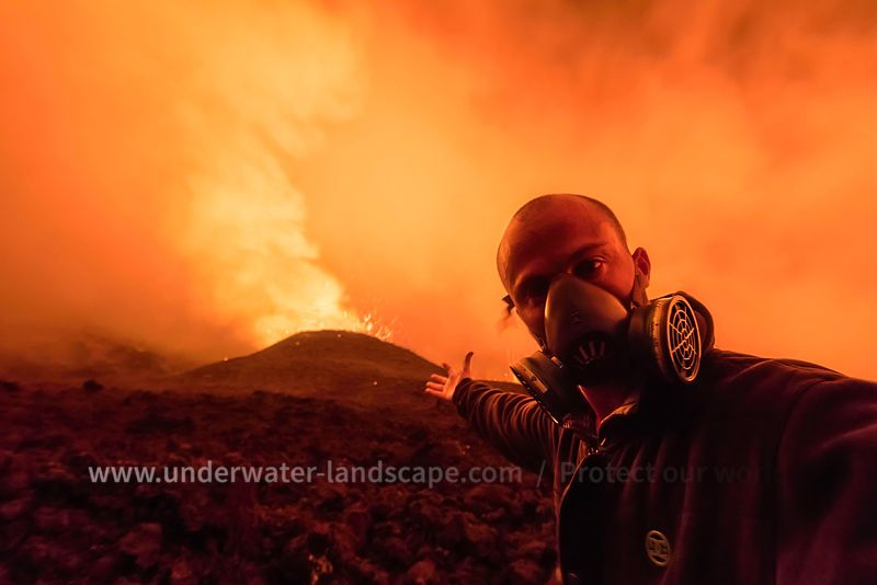 Picture of the eruption of the piton de la fournaise volcano in reunion island-Be Photographer!!!