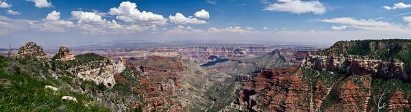 Roosevelt Point panorama, Grand Canyon