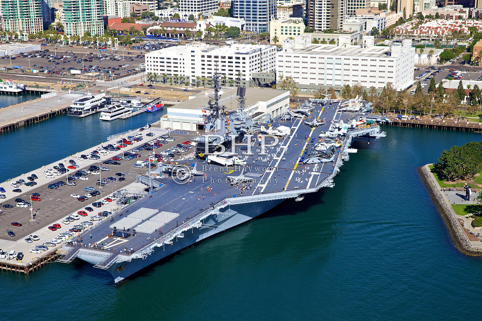 Brent Haywood Photography | USS Midway Aerial Photo