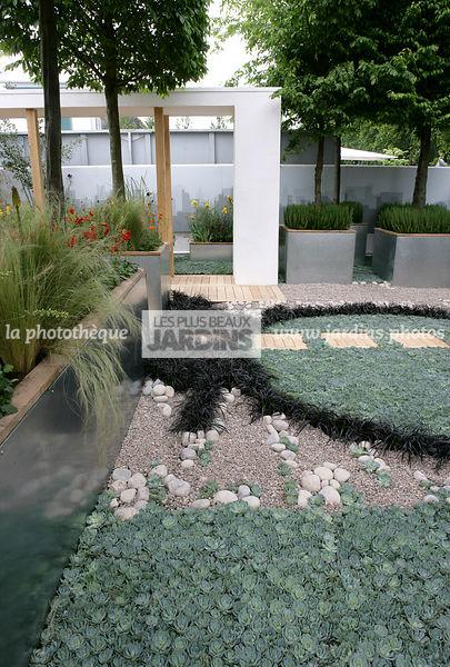 Jardin galet blanc cheap lot de galets lumineux pour jardin extrieur aquarium blanc with jardin - Deco jardin avec gravier blanc nice ...