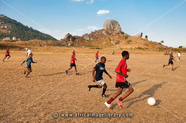Photos And Pictures Of Soccer Game Dedza Malawi The Africa Image Library