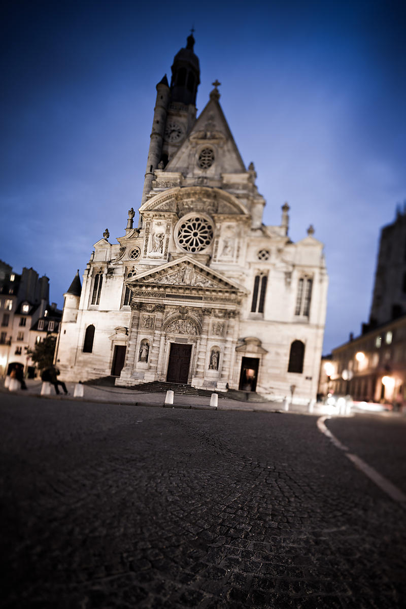 photostock arnaud frich front wall of saint etienne du mont church by night paris. Black Bedroom Furniture Sets. Home Design Ideas