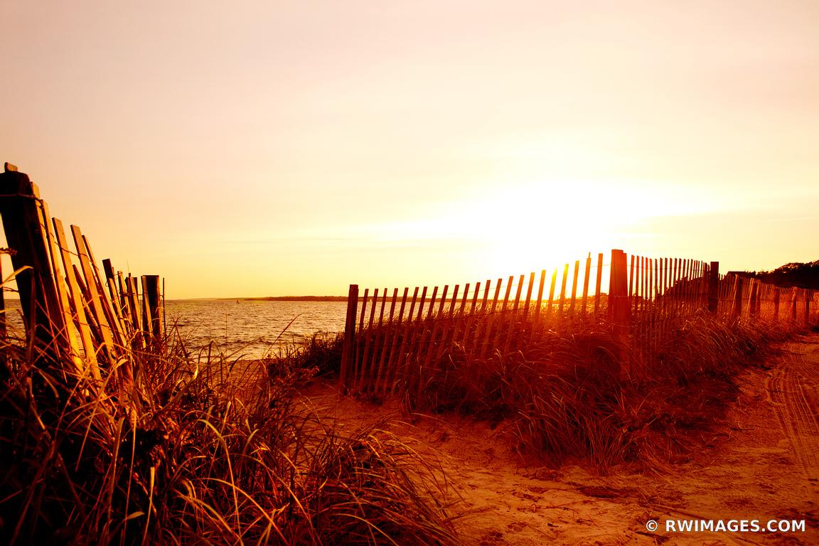 Photo print of sunset beach fence falmouth massachusetts for Fine art photography sales