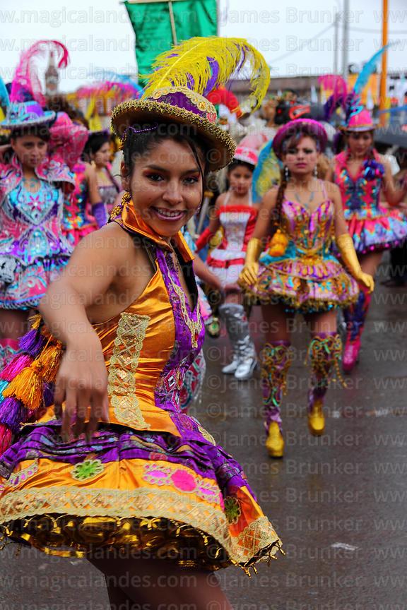 75935136cb Chinita dancing the morenada at Virgen de la Candelaria festival