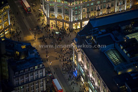Oxford Circus Night aerial view
