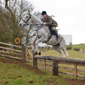 Jim Haslegrave  jumps a hunt jump near Somerby