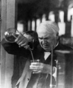 Thomas Edison in a lab, 1920