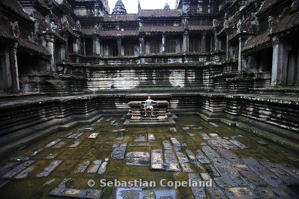 Sebastian Copeland Photography | Pool inside Angkor Wat Temple