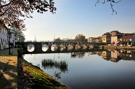 The roman bridge of Chaves. Trs-os-Montes, Portugal