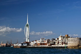 Spinnaker Tower and Round Tower, Portsmouth