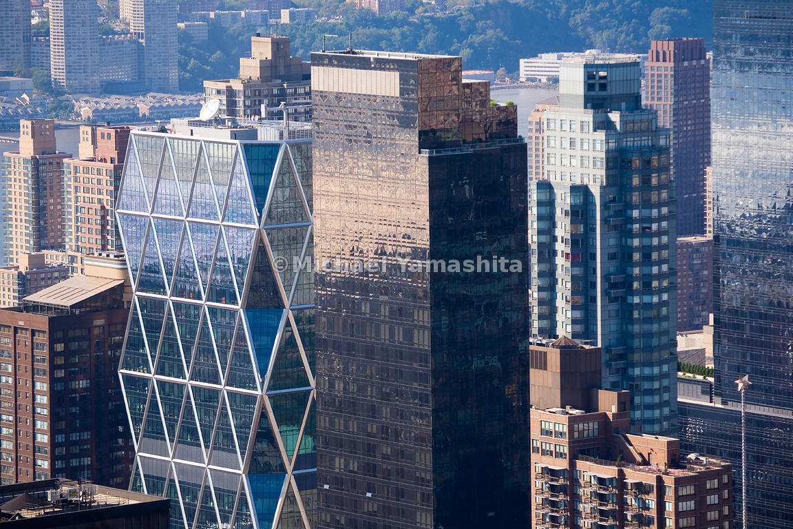 The Triangles Of Hearst Towers Exo Skeleton Are A Stark Contrast To Rectangular