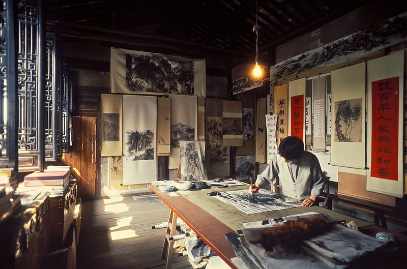 michael freeman photography artist in studio