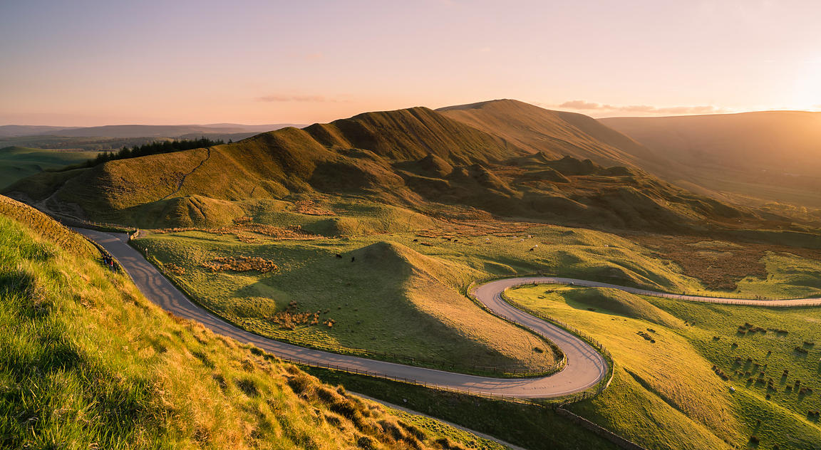 Photography Rushup Edge From Mam Tor Peak District