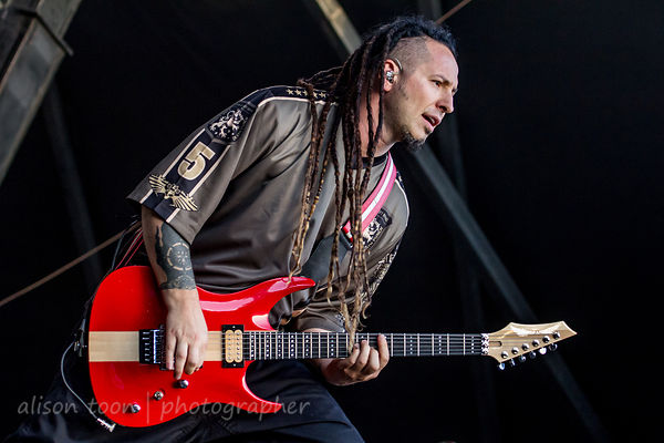 Zoltan Bathory of Five Finger Death Punch, Aftershock 2014