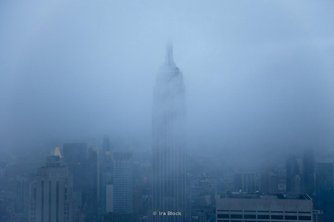 Ira Block Photography | Foggy Manhattan city view and