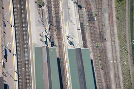 Didcot Rail Station, aerial view