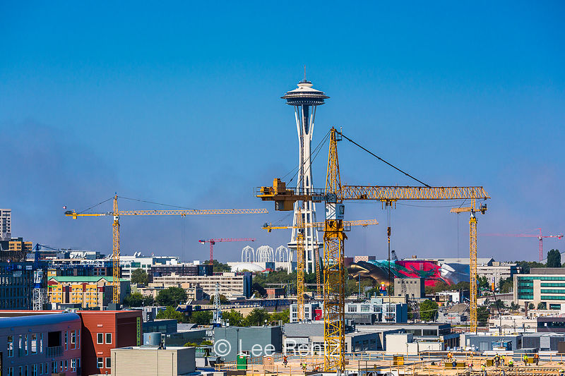 Lee rentz photography construction cranes in the south for New home builders in seattle area