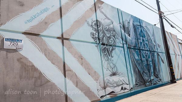 Miles Toland, Wide Open Walls mural festival, Sacramento, 2017
