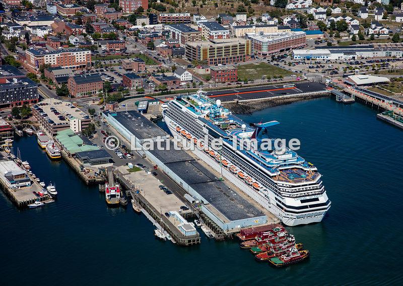 Latitude Image Carnival Splendor Cruise Ship In Portland Maine