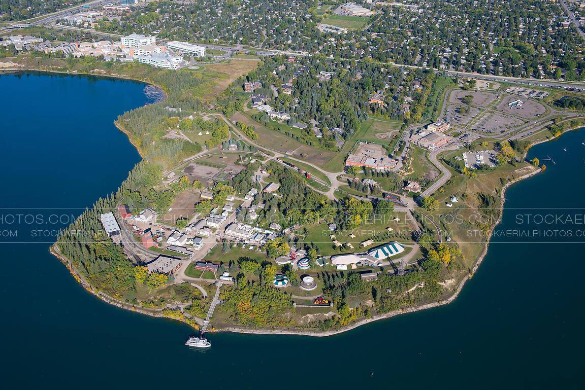 Aerial Photo Heritage Park Calgary