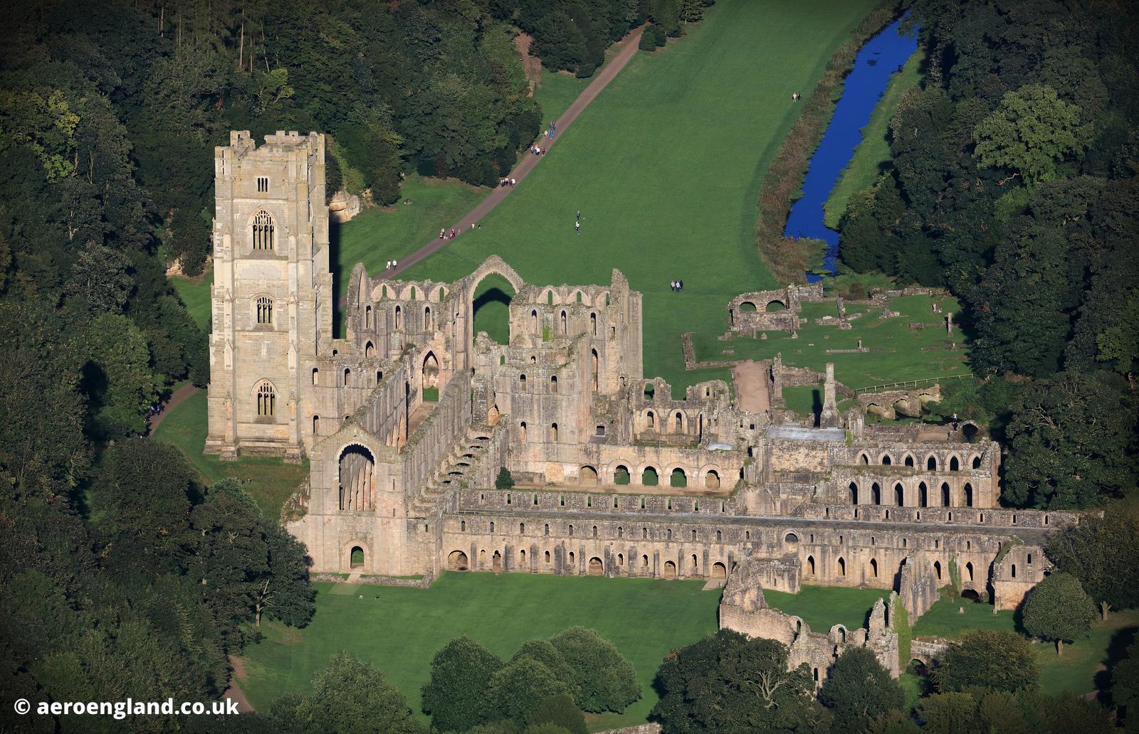 Fountains Abbey Aerial