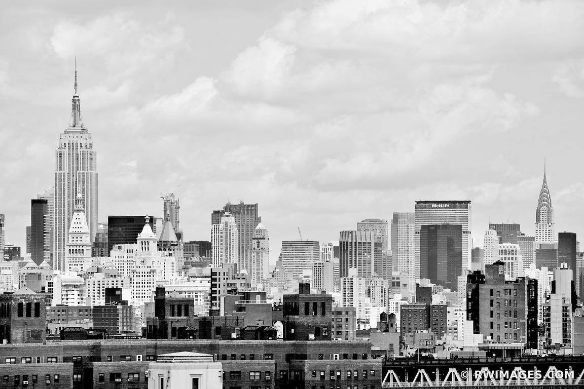 Canvas Metal Acrylic Print   MANHATTAN SKYLINE NEW YORK CITY BLACK ...