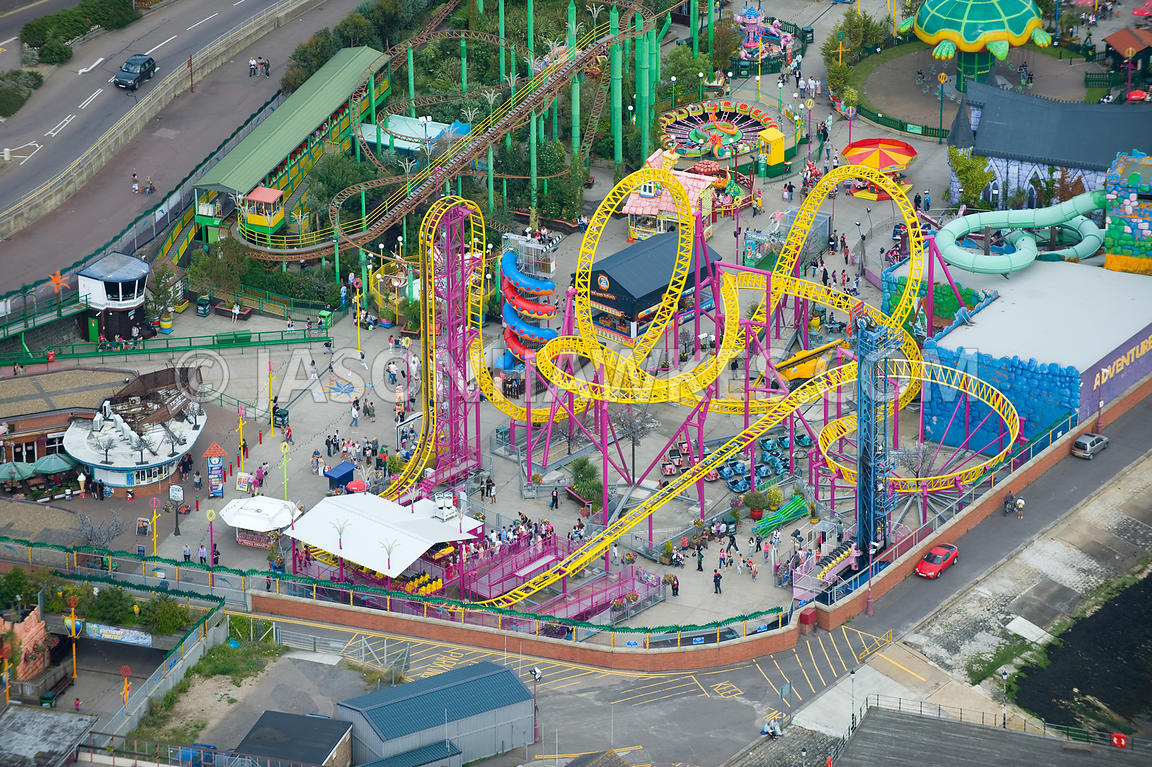 Aerial View. Adventure Island, Southend on Sea, Essex