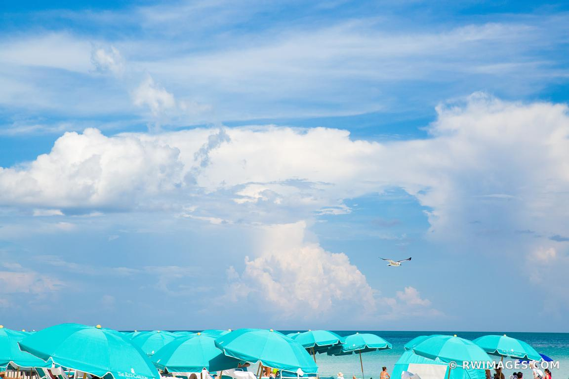 GREEN BEACH UMBRELLAS MIAMI FLORIDA