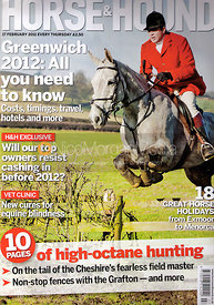 Horse &amp; Hound cover photography, 17th February 2011