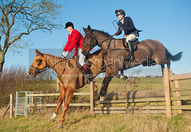 Burrough on the Hill, Leicestershire - 27/12/11. The Cottesmore Hunt&#x27;s Pony Club meet at Burrough House and hunting around Somerby and Owston.