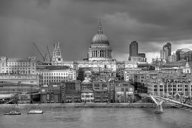 London cityscape at St Paul's