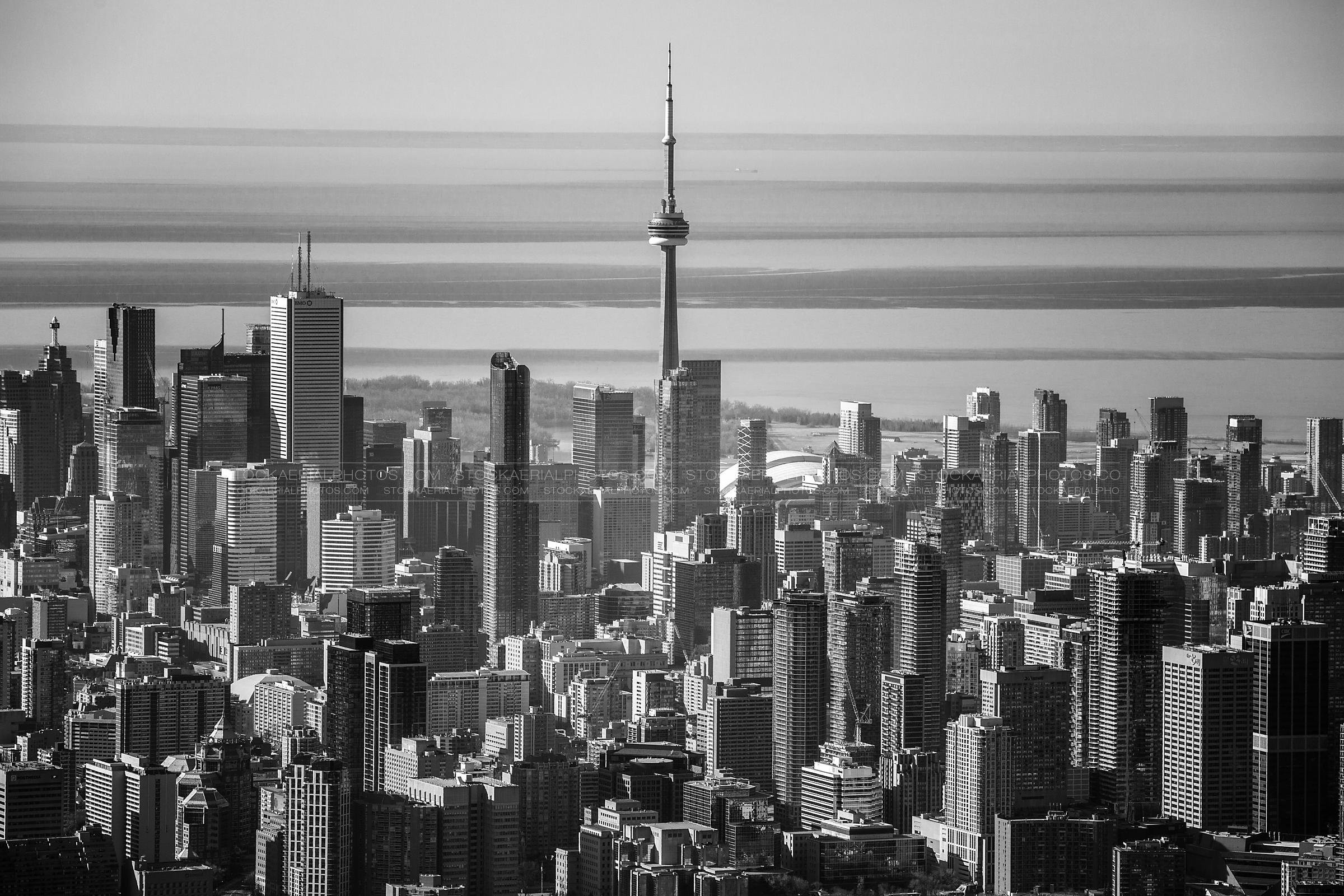 Aerial Photo | Toronto Skyline Black and White