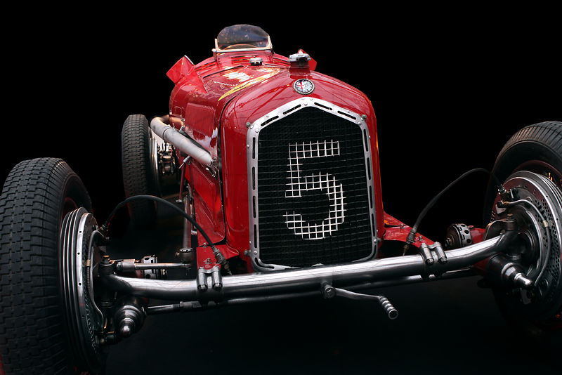 Vintage Alfa Romeo Ferrari Race Car