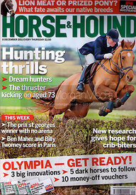 Horse &amp; Hound cover photography, 8th December 2011