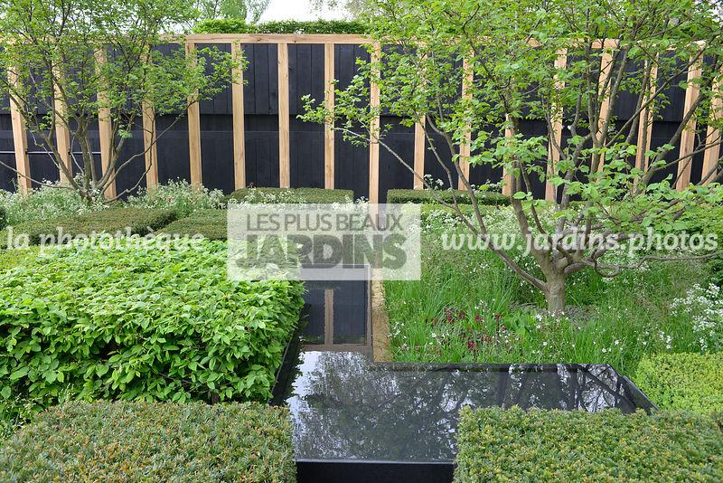 La phototh que les plus beaux jardins jardin contemporain mini bassin andrew ewing design - Arbuste contemporain ...