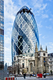 Gherkin and St Andrew Undershaft
