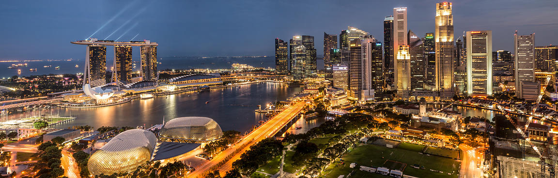 Ardenne Photography | Singapore Skyline at Twilight