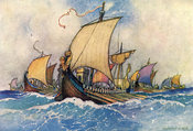 The Greek Fleet by Warwick Goble
