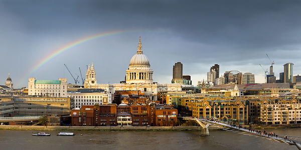 St Paul's with rainbow
