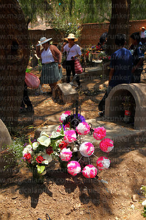 Magical andes photography floral tributes both real and paper floral tributes both real and paper flowers next to grave in cemetery for todos mightylinksfo