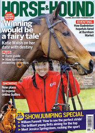 Katie Walsh and Seabass - Horse &amp; Hound cover 4th April 2013